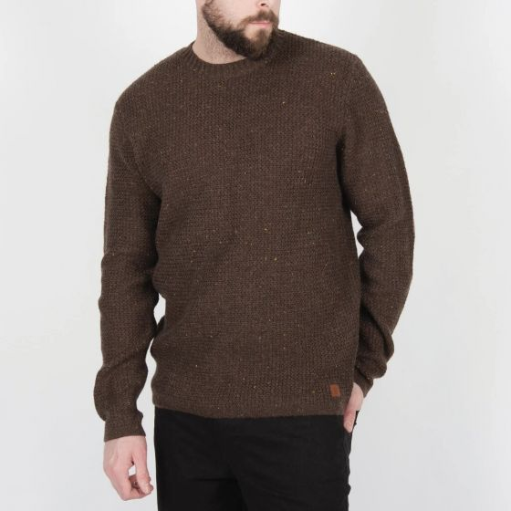 Passenger Alder Knitted Mens Sweater - Bracken