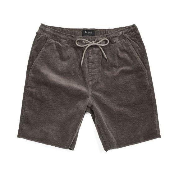 Brixton Madrid II Shorts - Charcoal Cord