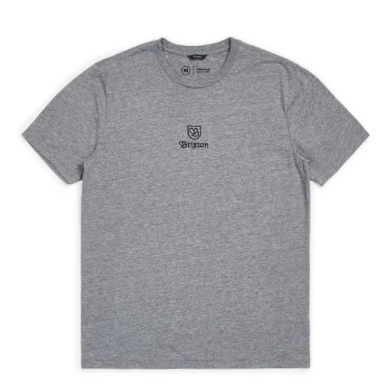 Brixton Main Label II T-Shirt - Heather Grey