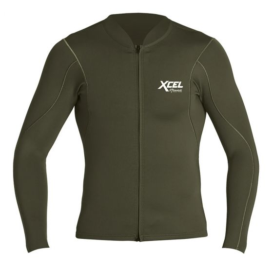 Xcel Axis Long Sleeve 1/0.5mm Mens Wetsuit Jacket - Forest Green