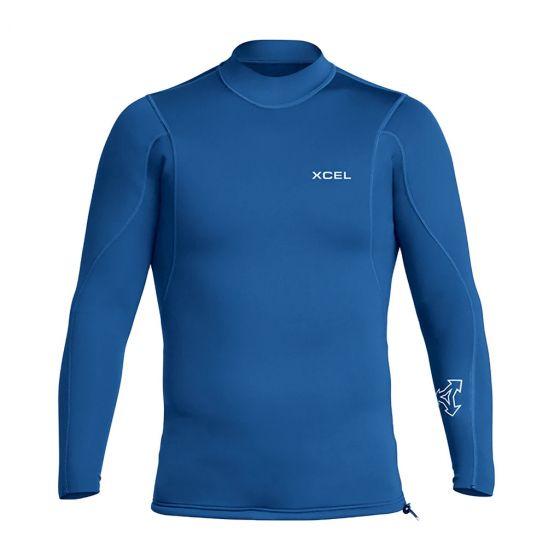 Xcel Axis Long Sleeve 2/1mm Mens Wetsuit Jacket - Blue