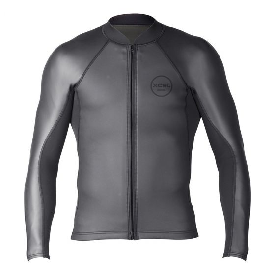 Xcel Shark Skin Long Sleeve 2/1mm Mens Wetsuit Jacket - front