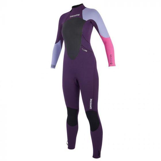 Mystic Star 3/2mm Shortarm Back Zip Womens Purple Wetsuit in Medium