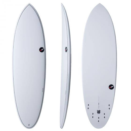 """NSP Elements 5'9"""" Hybrid Shortboard - White"""