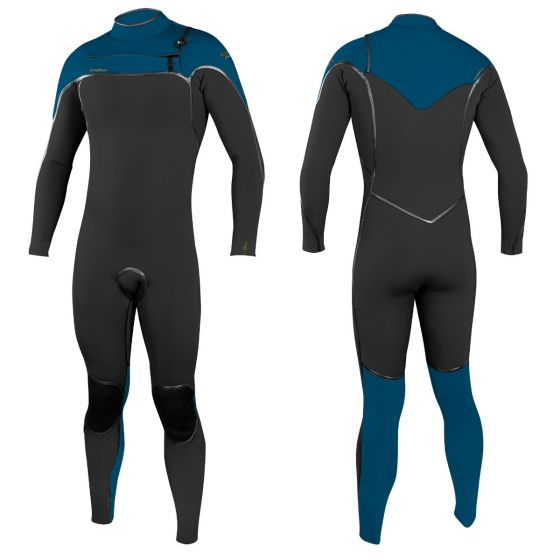 O'Neill Psycho One 4/3mm Chest Zip Wetsuit 2021 - Gunmetal