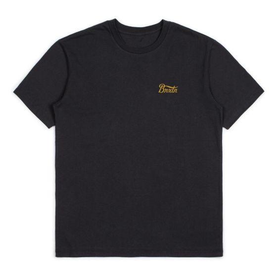 Brixton Potrero T-Shirt - Washed Black/Light Blue