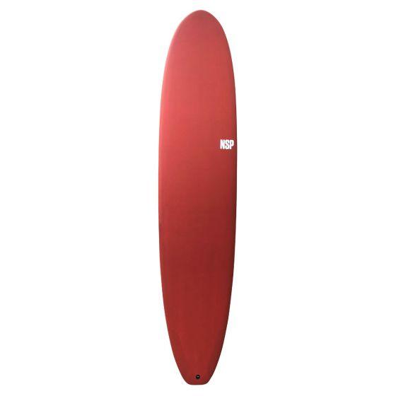 NSP Protech 8ft Longboard Surfboard - Red Tint
