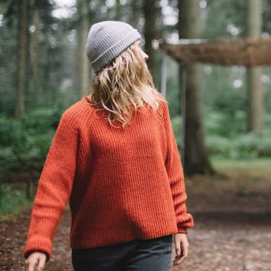 Passenger Skye Womens Knitted Sweater - Cinnamon casual