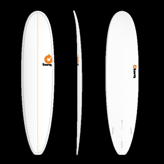Torq Mini Long 8ft Surfboard - Pineline White