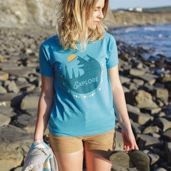 Passenger Vista Womens T-Shirt - Maui Blue