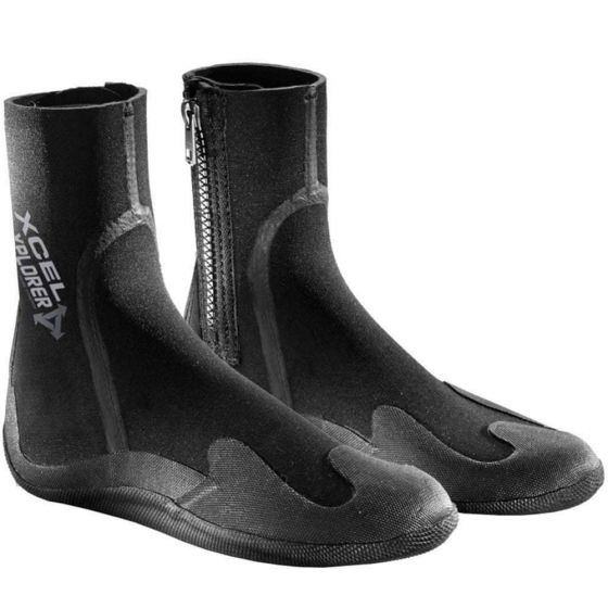 Xcel Youth Xplore 5mm Round Toe Wetsuit Boot - Black