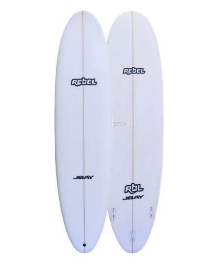 Rebel Mini Mal PU Surfboard - White