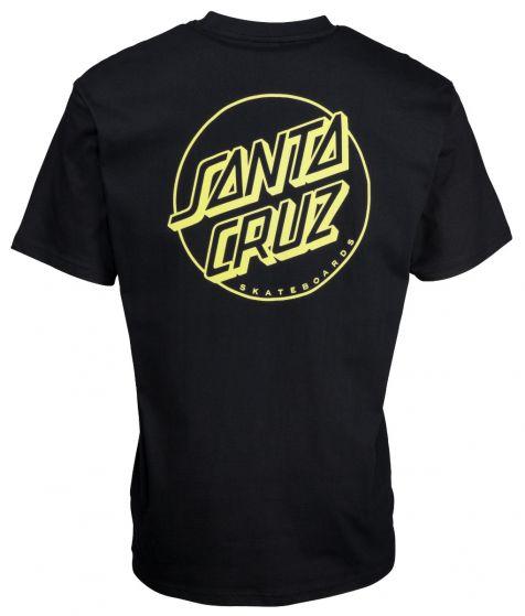 Santa Cruz 'Opus Dot' Stripe Tee - 'Black and Yellow'