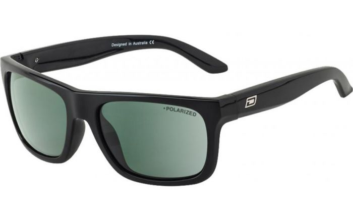 Dirty Dog Boom Sunglasses - Black/Green Polarised