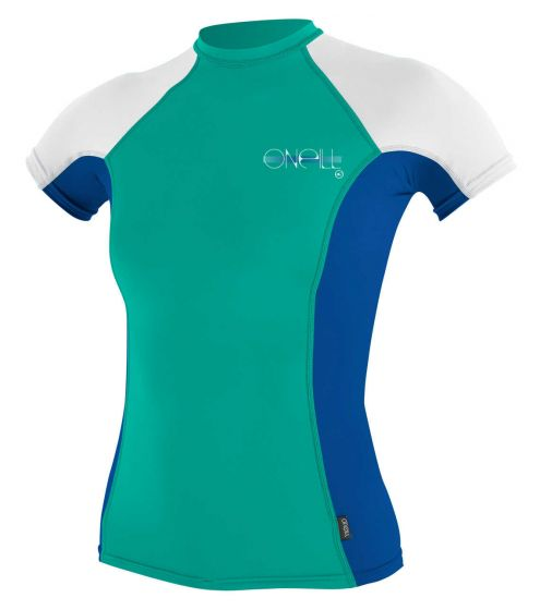 O'Neill Ladies Skins Rash Vest 2017 -  Green