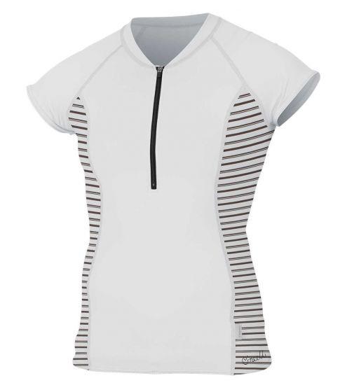 O'Neill Womens' Front-Zip Cap Sleeve Sun Shirt 2018