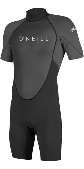 O'Neill Reactor 2 2mm Back Zip Shorty Wetsuit 2021 - Black / Graphite