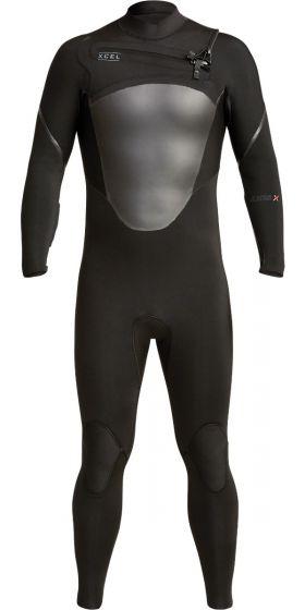 Xcel Axis 3/2mm Mens Chest Zip Summer Wetsuit - Black