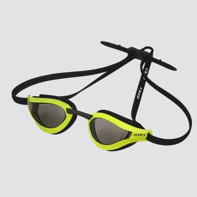 Zone 3 Viper Speed Swim Grey Tinted Goggles - Lime/Black - Full View