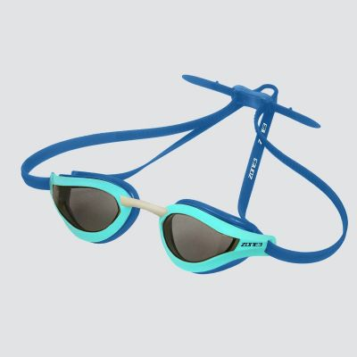 Zone 3 Viper Speed Swim Blue Tinted Goggles - Turquoise/Blue - Full View