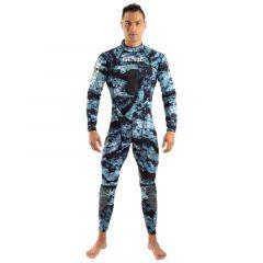 SEAC Body Fit 1/5mm Mens Wetsuit 2021 - Camo Blue