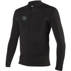 Vissla 7 Seas 2mm Front Zip Jacket - Black