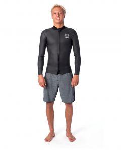 Rip Curl Mens Dawn Patrol 1.5mm Long Sleeve Wetsuit Jacket 2021 - Black