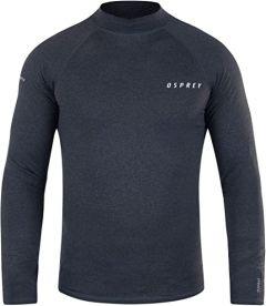 Osprey Thermal Long Sleeve Mens Rash Vest - Black