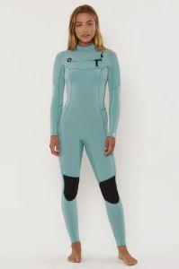 Sisstr 7 Seas 4/3mm Chest Zip Womens Wetsuit - Sea Foam