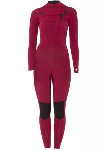Sisstr 7 Seas 3/2mm Chest Zip Womens Wetsuit - Bordeaux