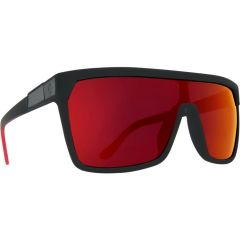 SPY Flynn Matte Black Red Fade Sunglasses - HD Plus Grey/Green/Red
