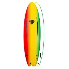 Ocean & Earth 6ft Mr Ezi Rider Twin Fin Foam Surfboard - Rasta
