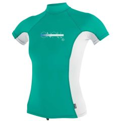 O'Neill Girls Premium Skins S/S Rash Guard Turtleneck - Ocean Abyss - Front View