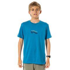 Rip Curl Wavey Logo Boys T-Shirt - Ocean Blue