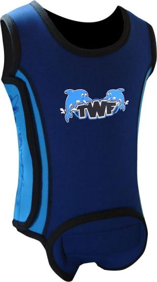 TWF Baby Wrap Swimming Wetsuit  -  Dolphin Blue 2017