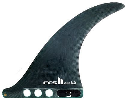 "FCS II Whip 9.0"" Surfboard Centre Fin - (Dark Green)"
