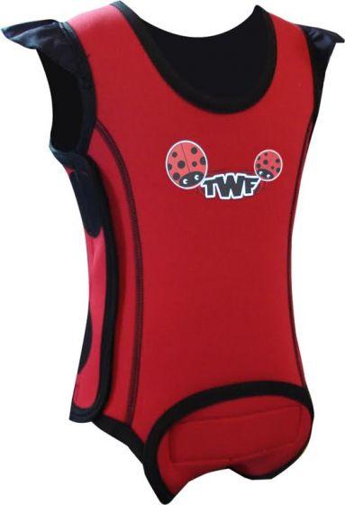 TWF Baby Wrap Swim Wetsuit  -  Lady Bug Red 2017