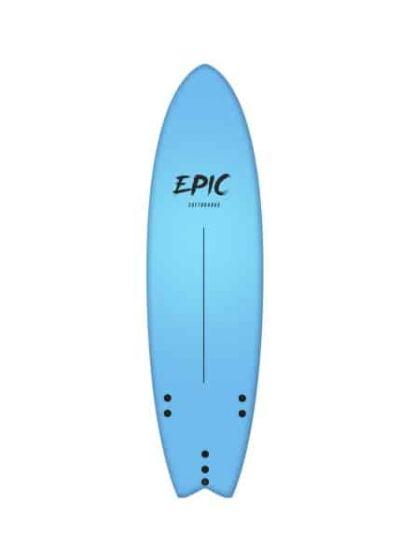 Tiki Epic 6ft 6 Foam Surfboard - Blue
