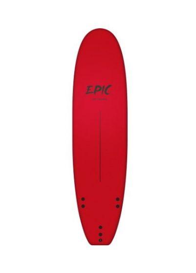 Tiki Epic 7ft 0 Foam Surfboard - Red