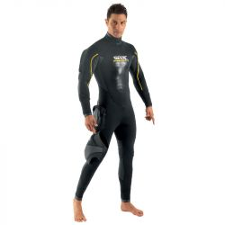 SEAC Master Dry Man 7mm Semidry Wetsuit 2021 - Black - Front