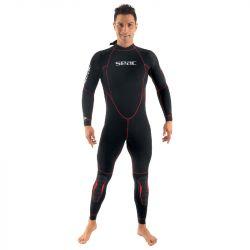 SEAC Alfa 5mm Mens Diving Wetsuit 2021 - Black - Front
