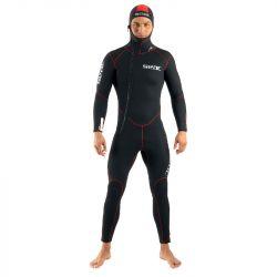 SEAC Resort Flex 5mm Mens Wetsuit 2021 - Black - Front