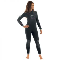 SEAC Space 7mm Womens Wetsuit 2021 - Black - Front