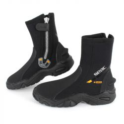 SEAC Pro HD 6mm Diving Boots 2021 - Black - Full View