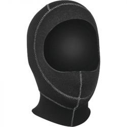 SEAC Standard 5mm Wetsuit Hood 2021 - Black - Full View
