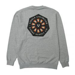 Vissla Psycho Tides Eco Crew Sweatshirt - Grey Heather