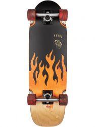 Globe Outsider 27.125 Inch Complete Skateboard - Black/Frenzy