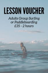 Lesson Voucher - Adults Group Surfing/Paddleboarding for 2 Hours