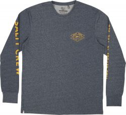 Salty Crew Tiller L/S Technical T-Shirt - Heather Navy