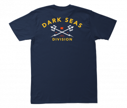Dark Seas Headmaster Mens T Shirt in Navy/Gold